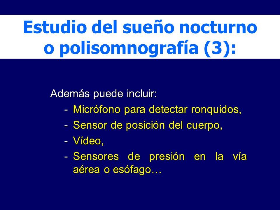 Estudio del sueño nocturno o polisomnografía (3):