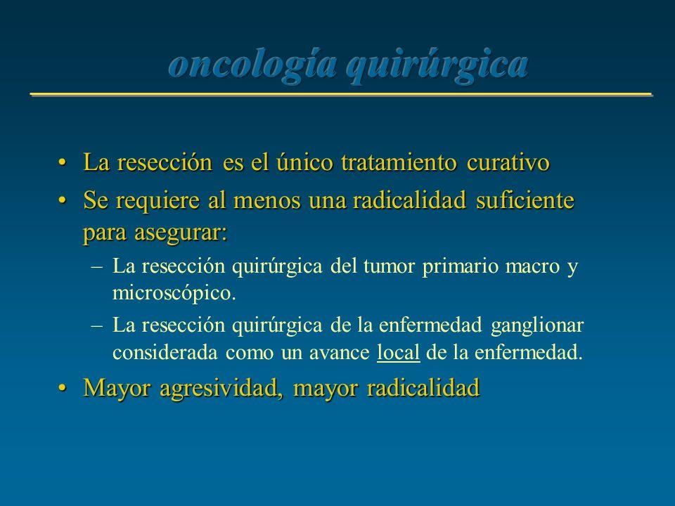 oncología quirúrgica La resección es el único tratamiento curativo