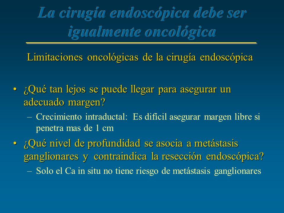 La cirugía endoscópica debe ser igualmente oncológica