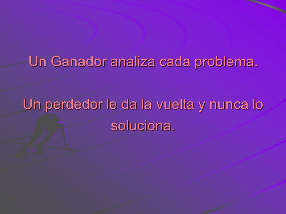 Un Ganador analiza cada problema.