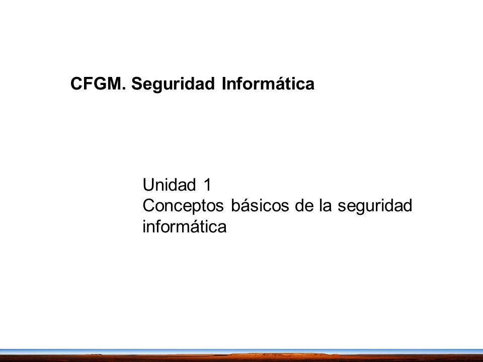 CFGM. Seguridad Informática