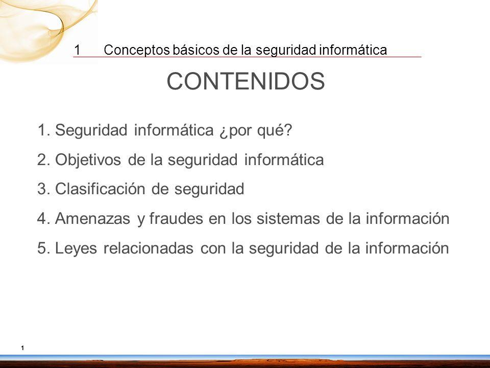 CONTENIDOS 2. Objetivos de la seguridad informática