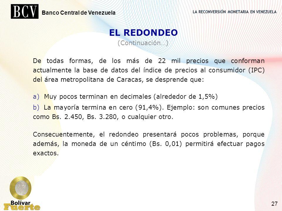 EL REDONDEO (Continuación…)
