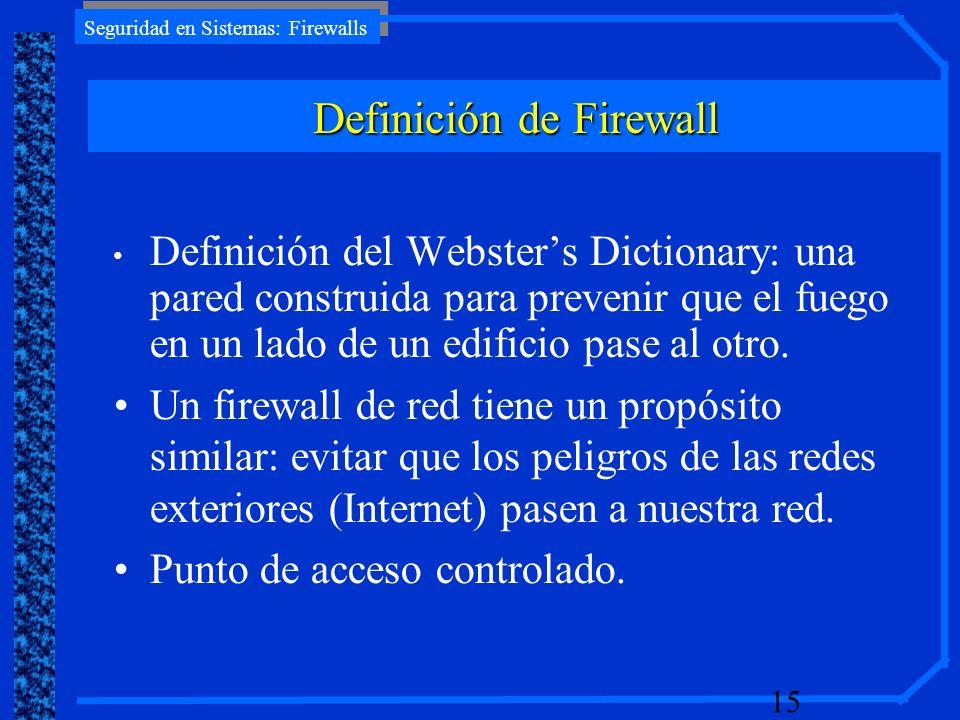 Definición de Firewall