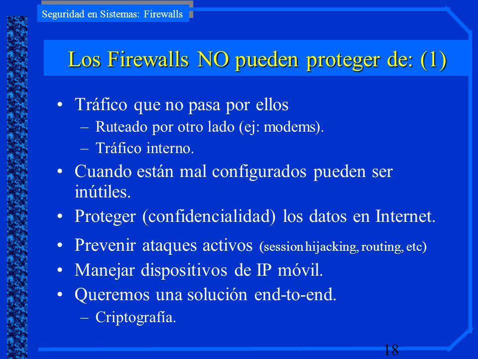 Los Firewalls NO pueden proteger de: (1)