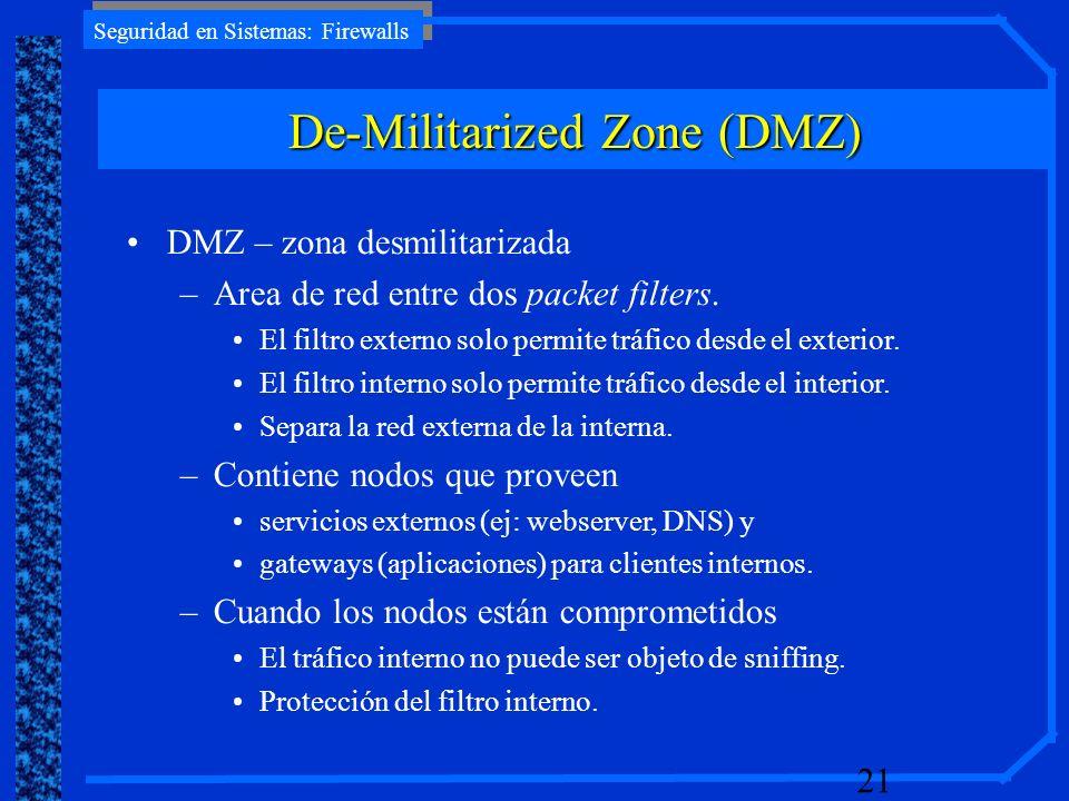 De-Militarized Zone (DMZ)