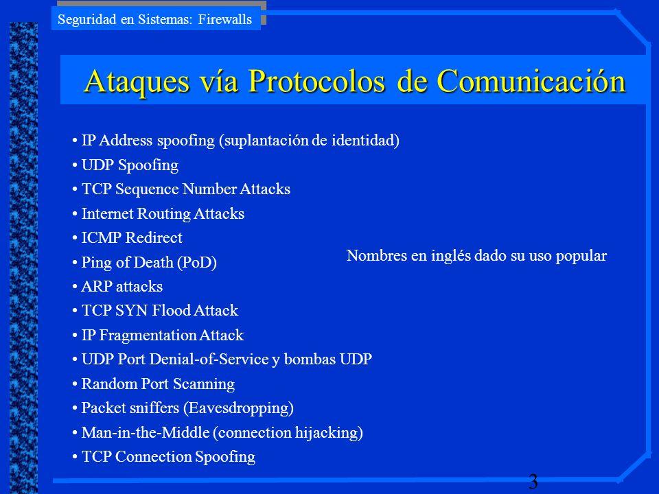 Ataques vía Protocolos de Comunicación