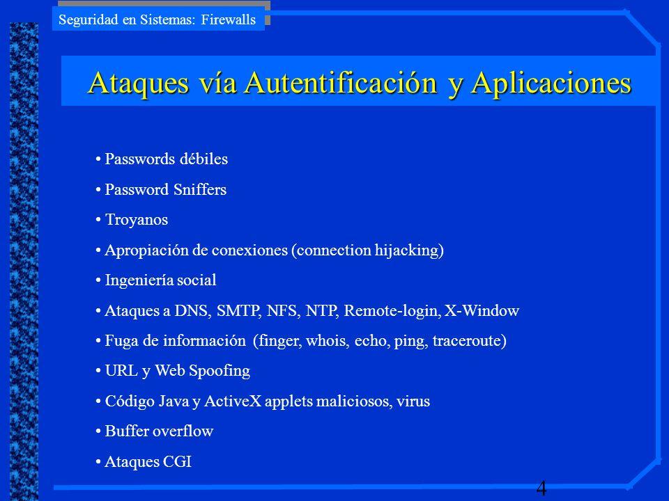 Ataques vía Autentificación y Aplicaciones