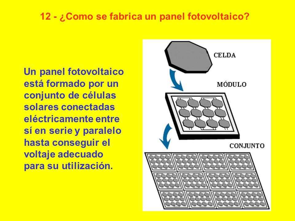 12 - ¿Como se fabrica un panel fotovoltaico
