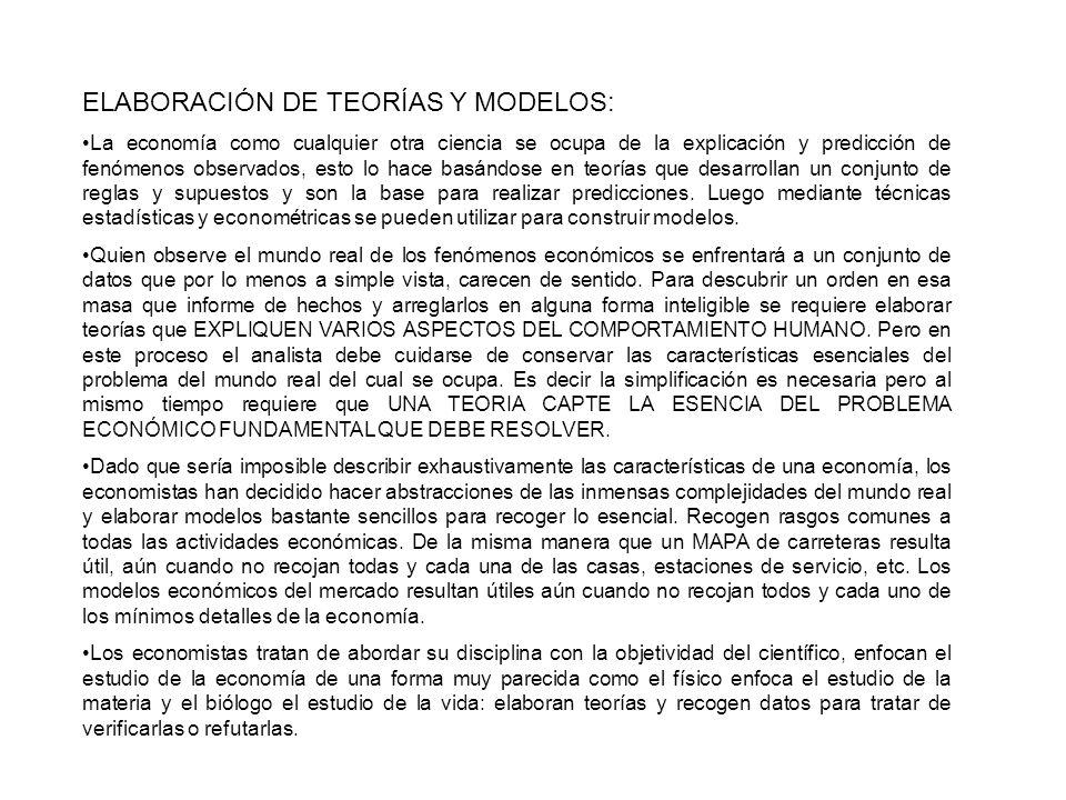 ELABORACIÓN DE TEORÍAS Y MODELOS: