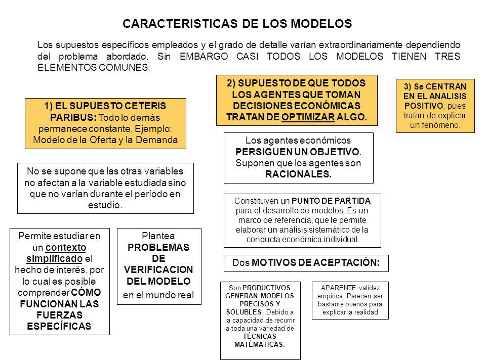 CARACTERISTICAS DE LOS MODELOS