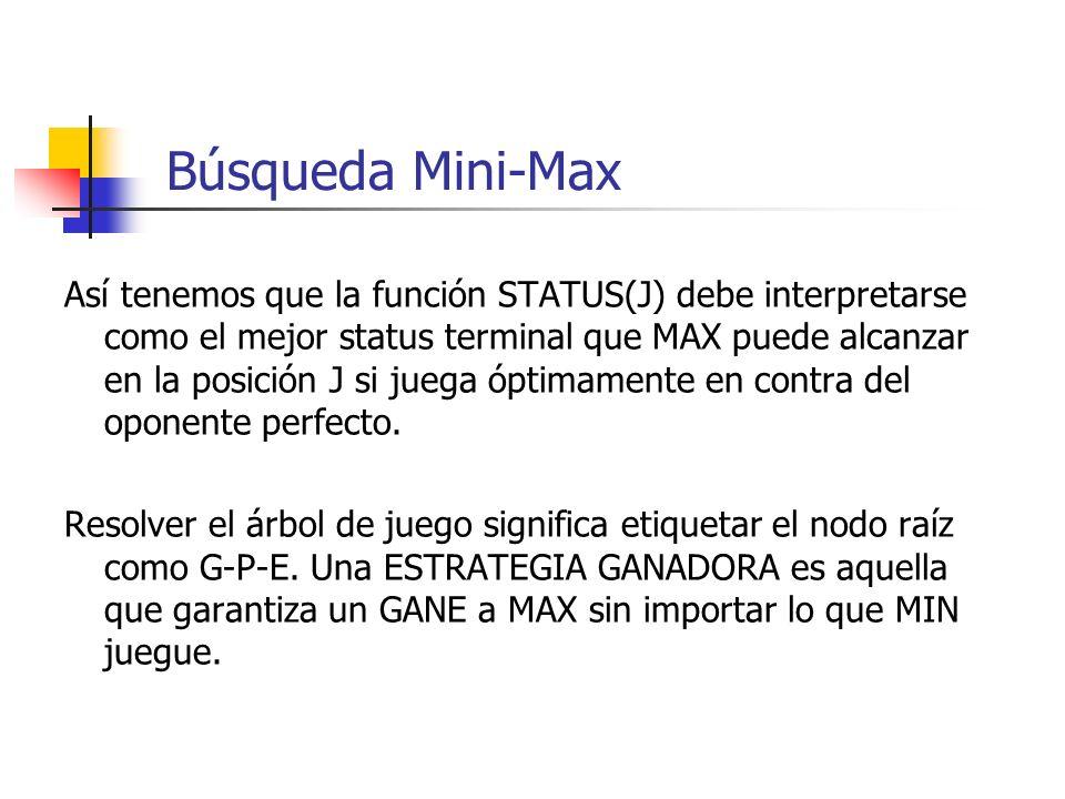 Búsqueda Mini-Max