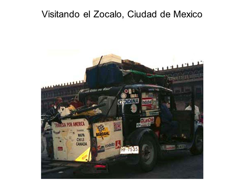 Visitando el Zocalo, Ciudad de Mexico