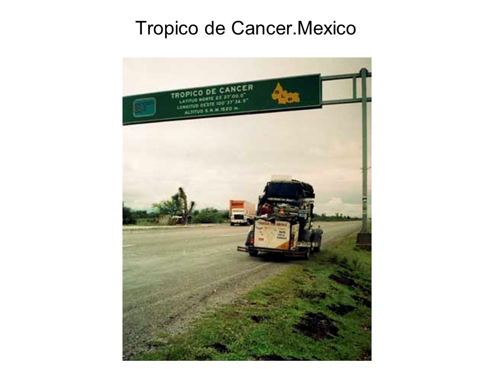 Tropico de Cancer.Mexico