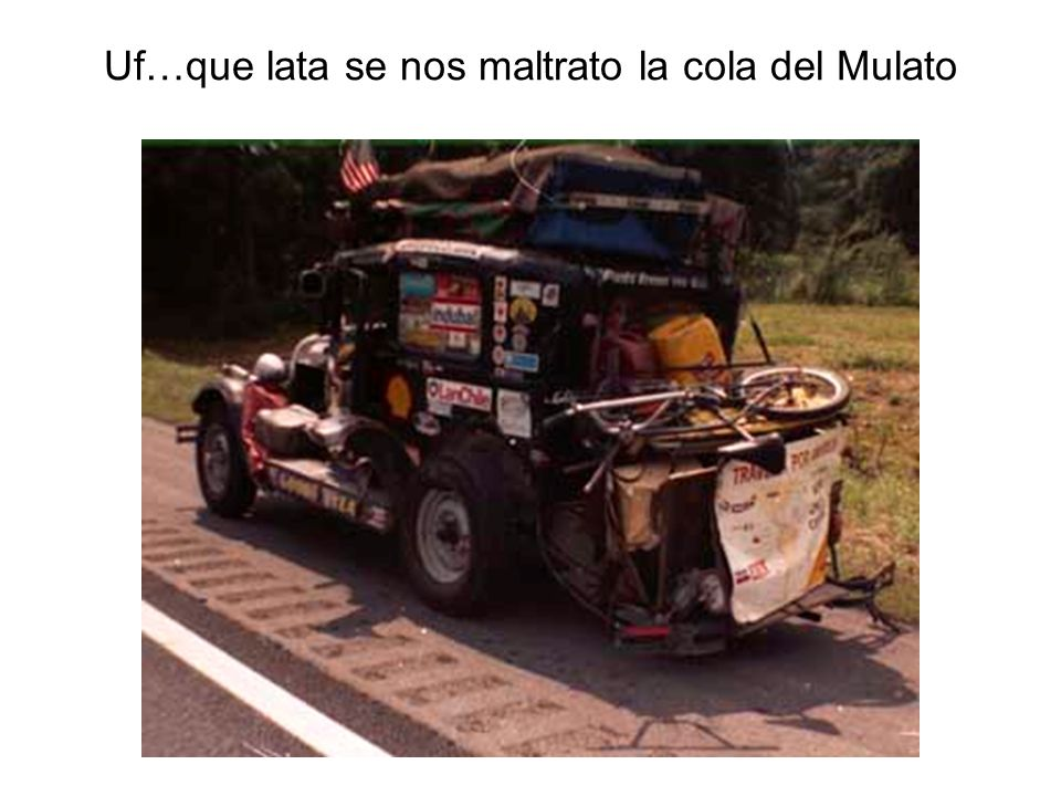 Uf…que lata se nos maltrato la cola del Mulato