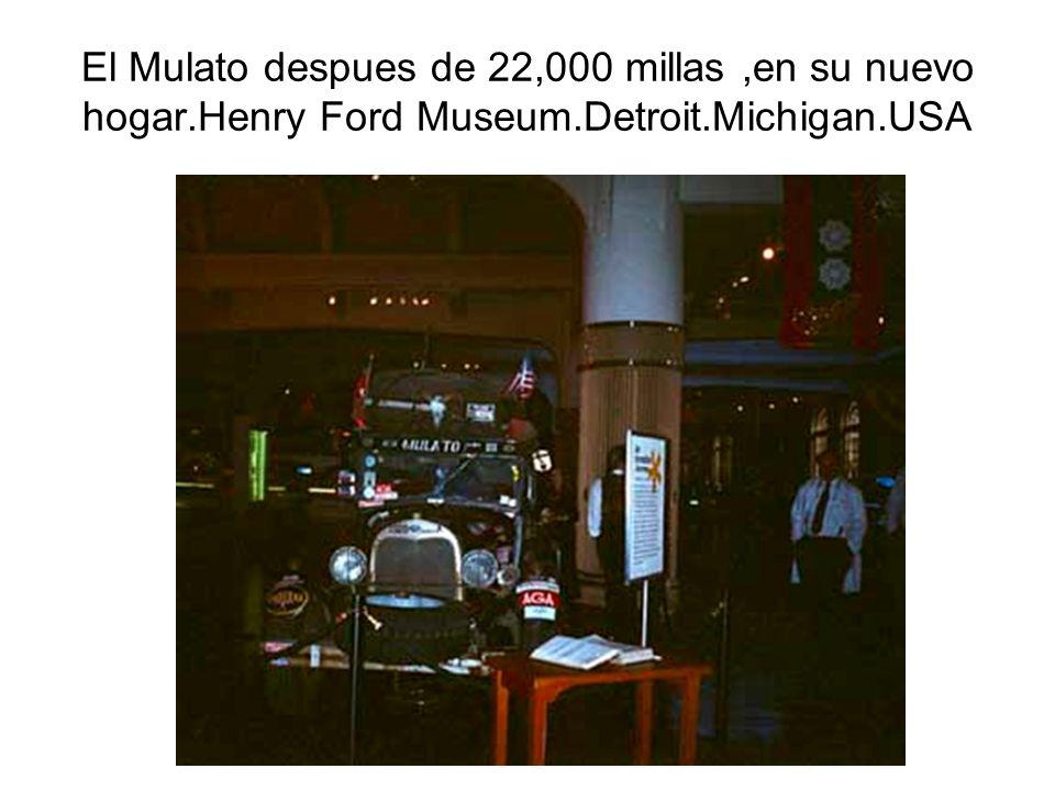 El Mulato despues de 22,000 millas ,en su nuevo hogar