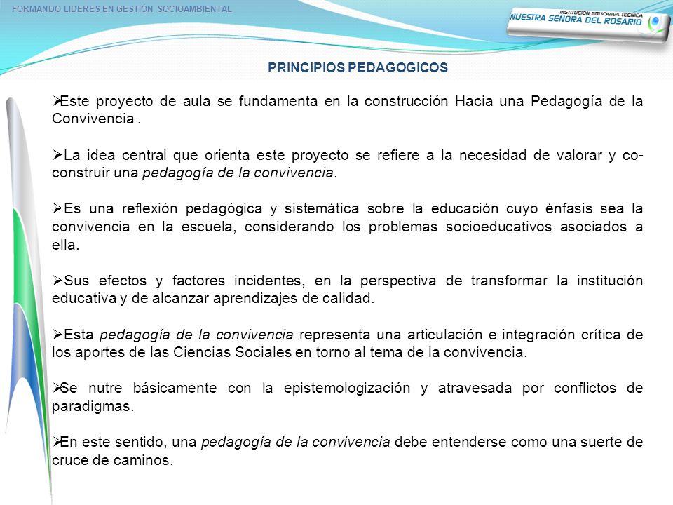 FORMANDO LIDERES EN GESTIÓN SOCIOAMBIENTAL PRINCIPIOS PEDAGOGICOS
