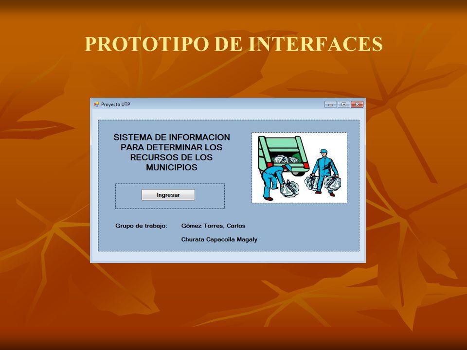 PROTOTIPO DE INTERFACES
