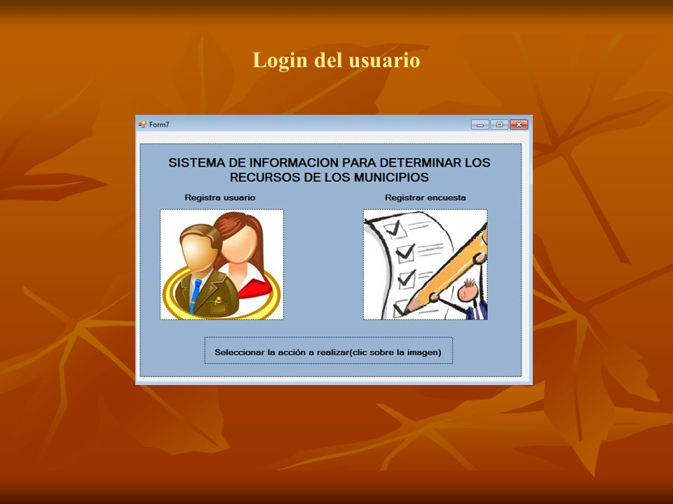 Login del usuario