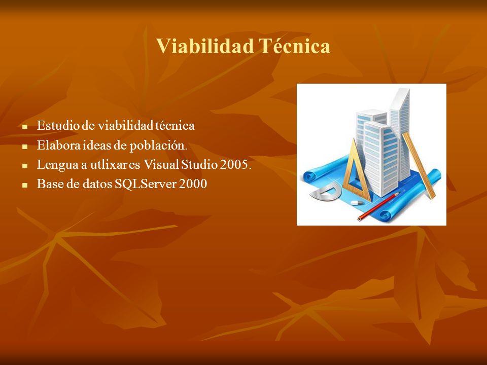 Viabilidad Técnica Estudio de viabilidad técnica
