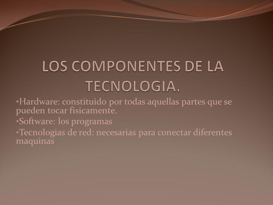 LOS COMPONENTES DE LA TECNOLOGIA.