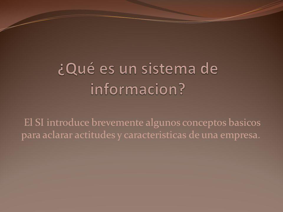 ¿Qué es un sistema de informacion