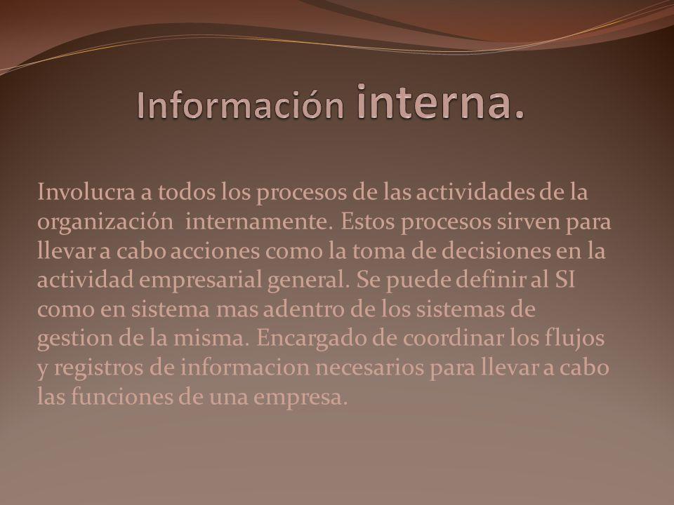 Información interna.