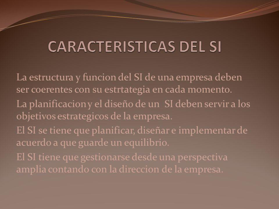 CARACTERISTICAS DEL SI
