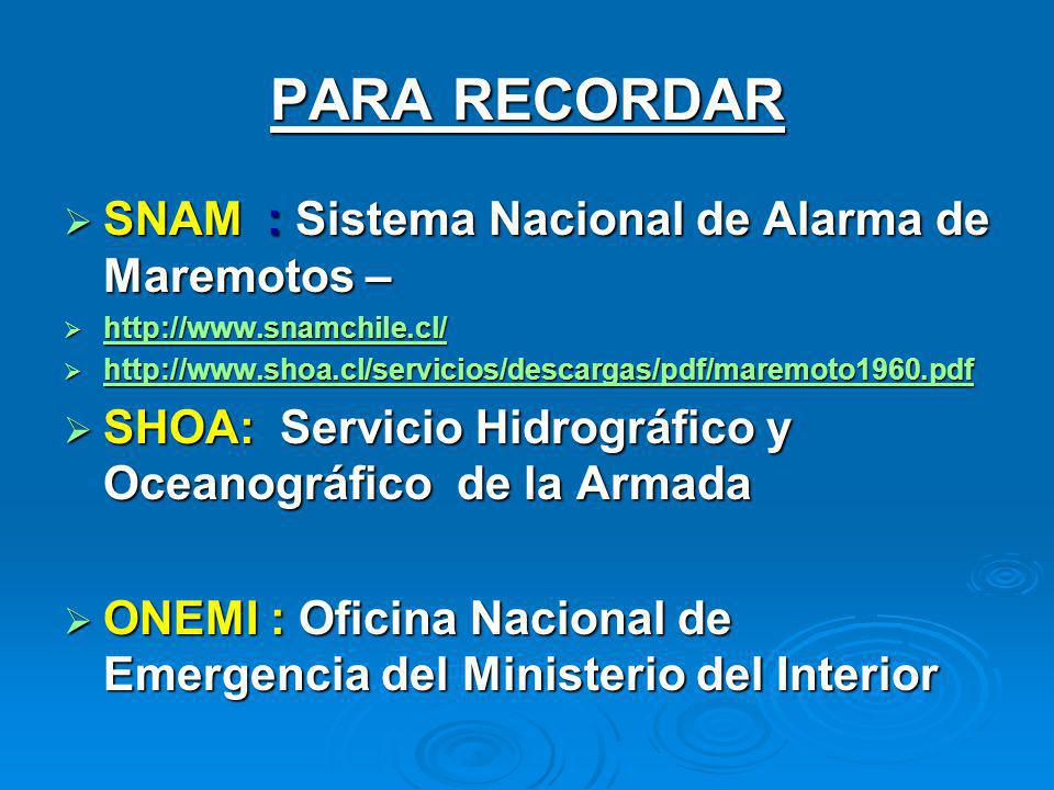 Tsunami maremoto ppt descargar for Ministerio del interior telefono 0800