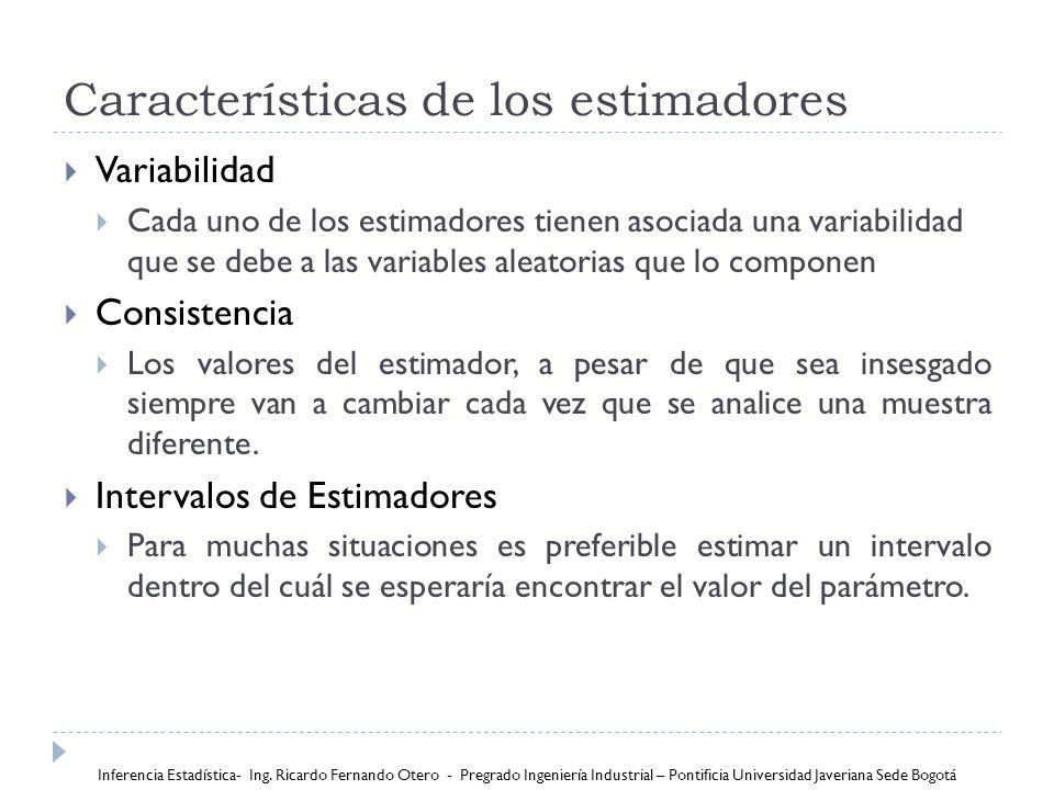 Características de los estimadores