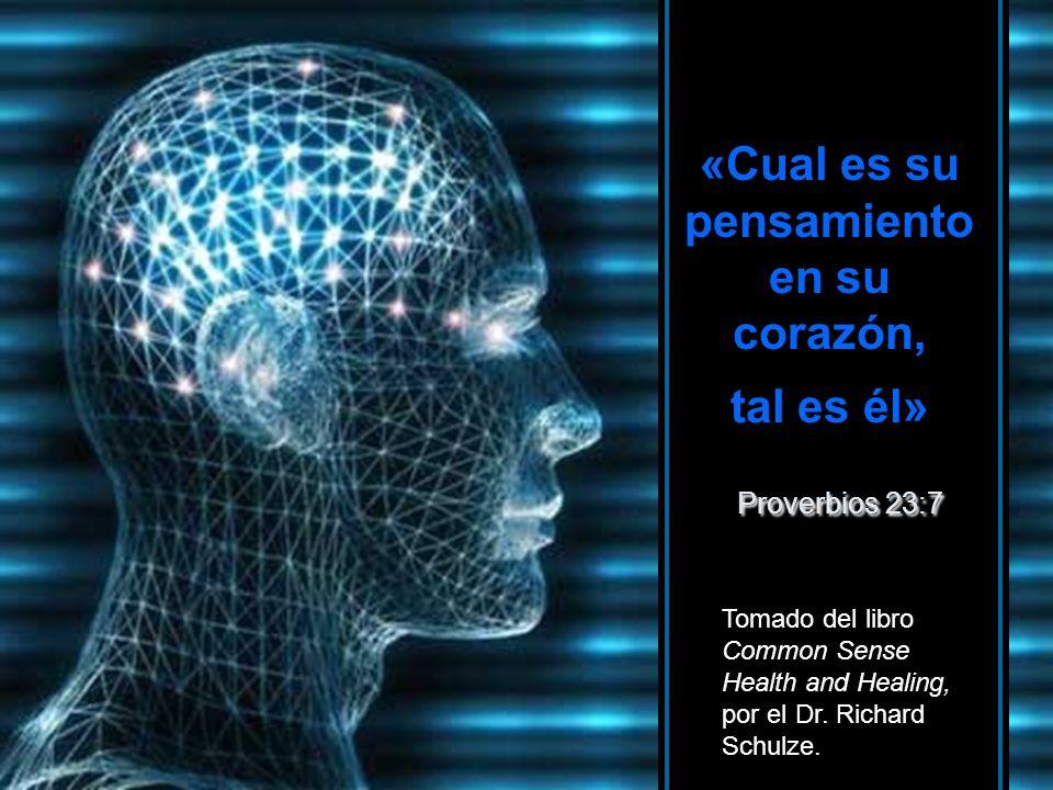 «Cual es su pensamiento en su corazón, tal es él» Proverbios 23:7