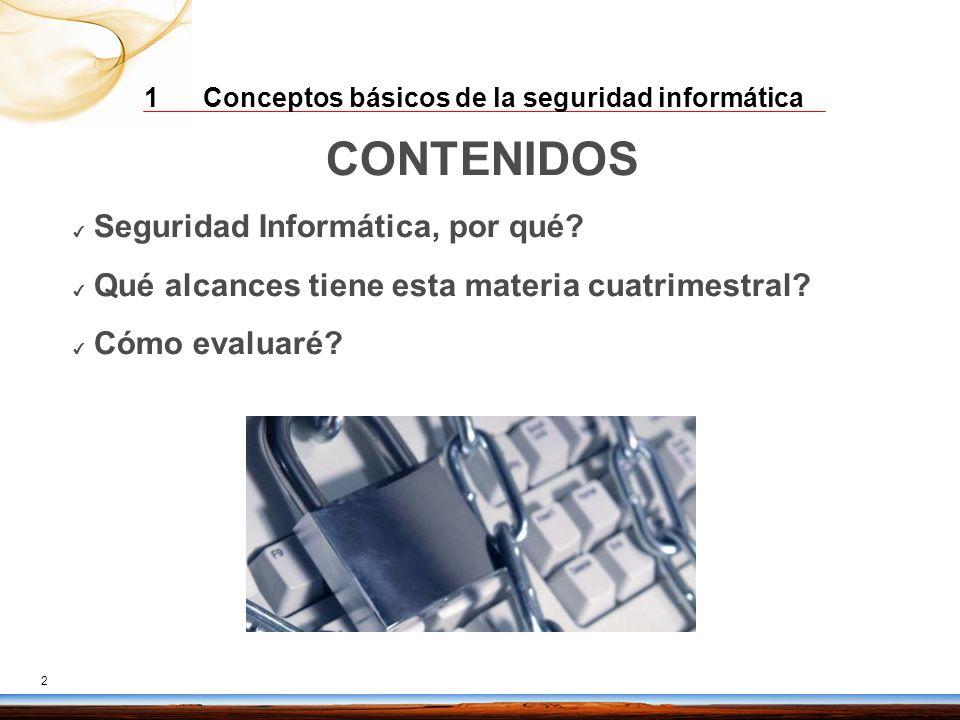 CONTENIDOS Seguridad Informática, por qué
