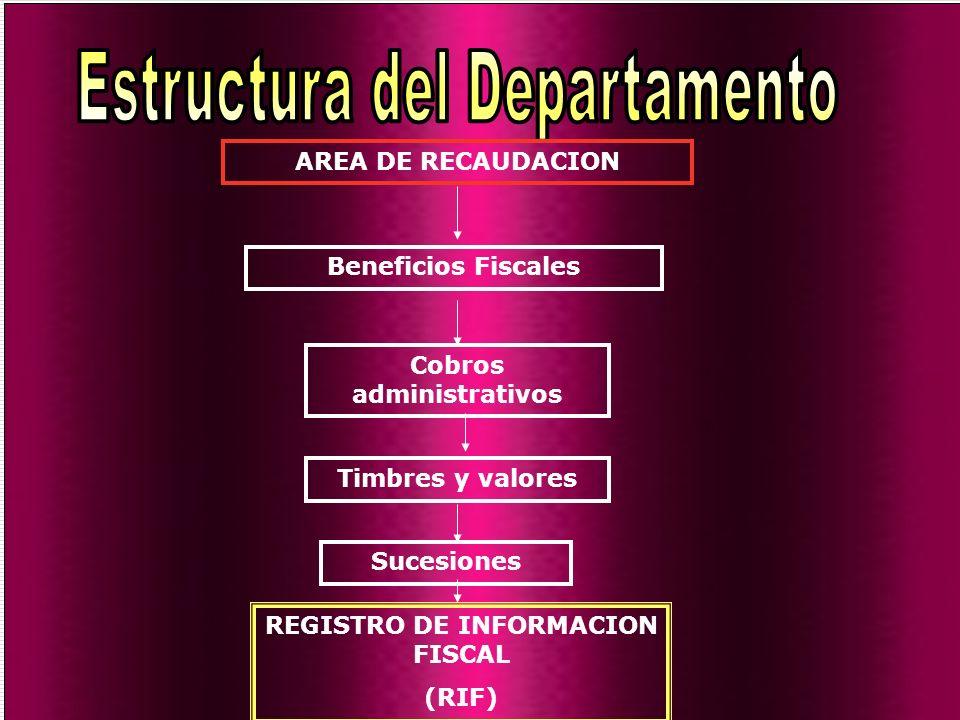 Cobros administrativos REGISTRO DE INFORMACION FISCAL