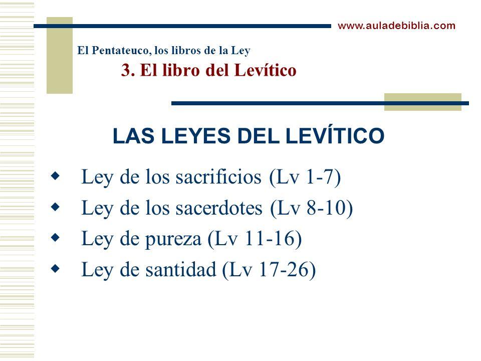 El Pentateuco, los libros de la Ley 3. El libro del Levítico