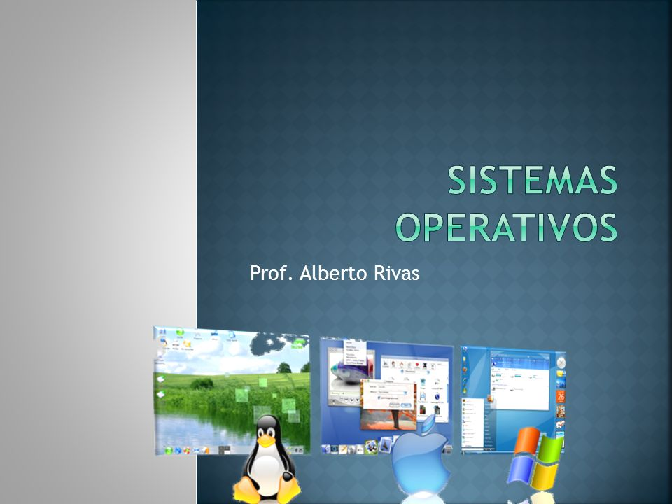 Sistemas operativos Prof. Alberto Rivas