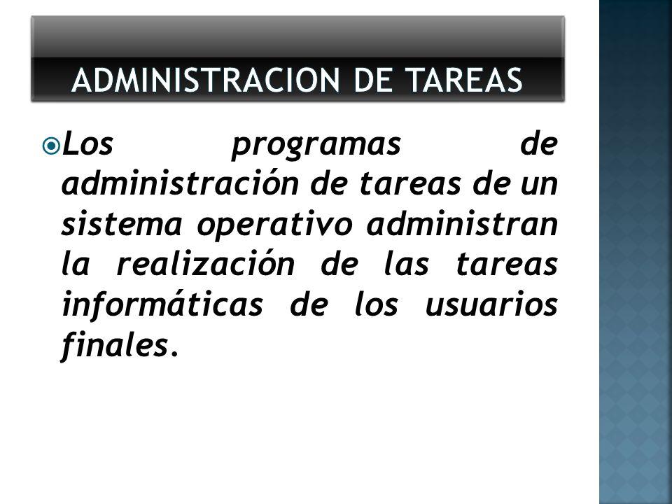 ADMINISTRACION DE TAREAS