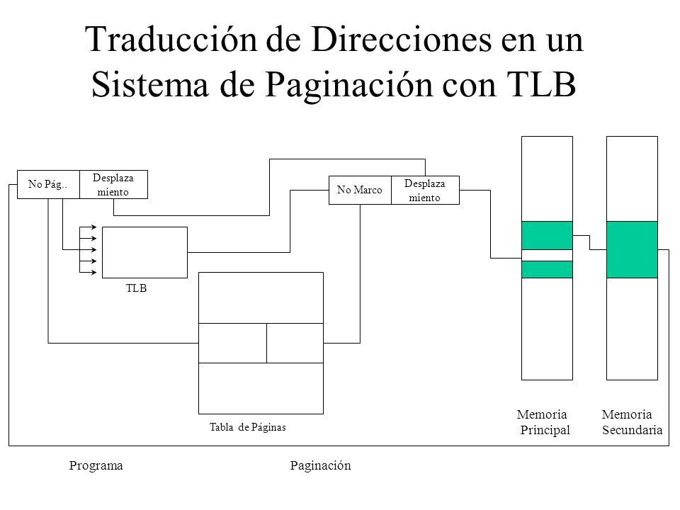 Traducción de Direcciones en un Sistema de Paginación con TLB