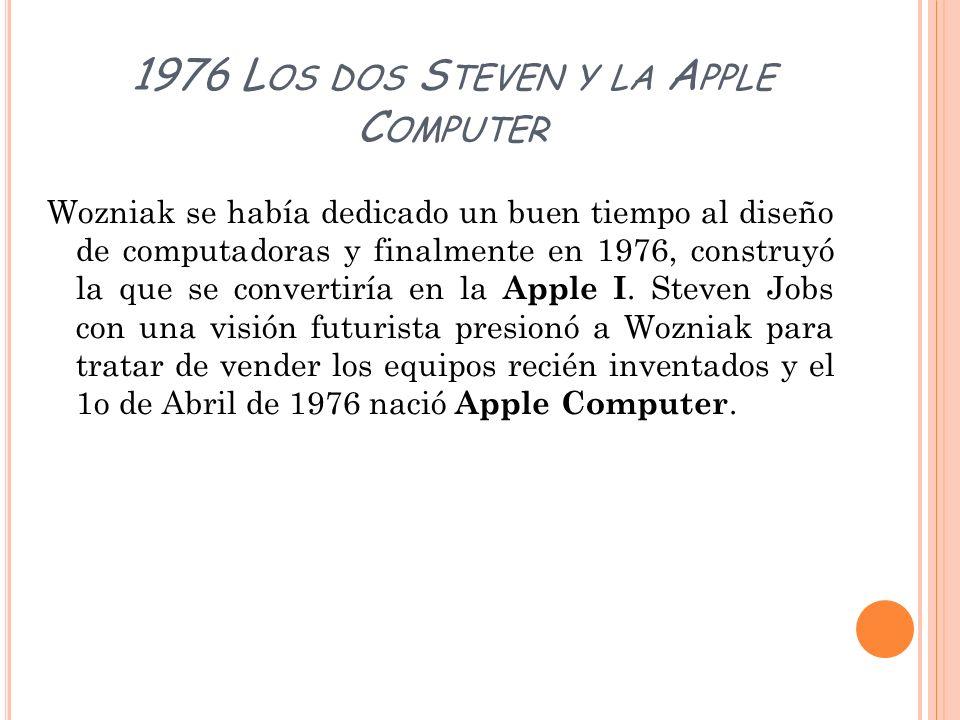 1976 Los dos Steven y la Apple Computer