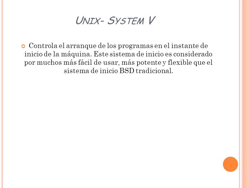 Unix- System V
