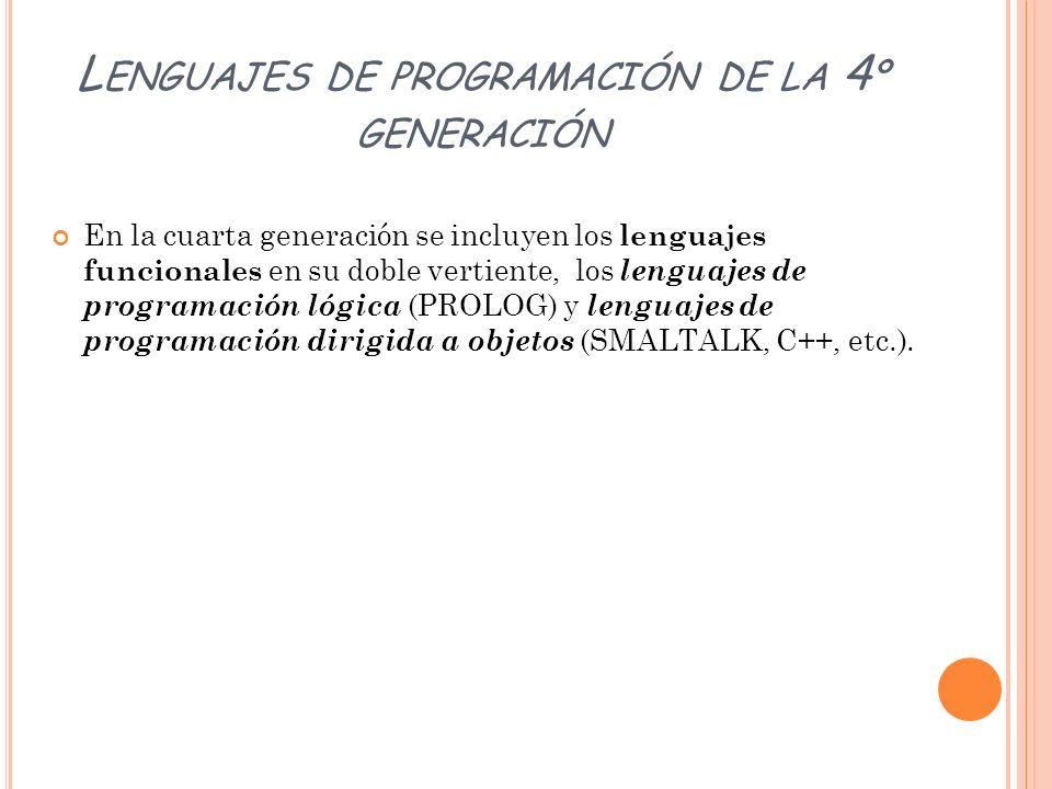 Lenguajes de programación de la 4º generación