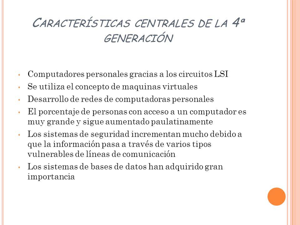 Características centrales de la 4ª generación
