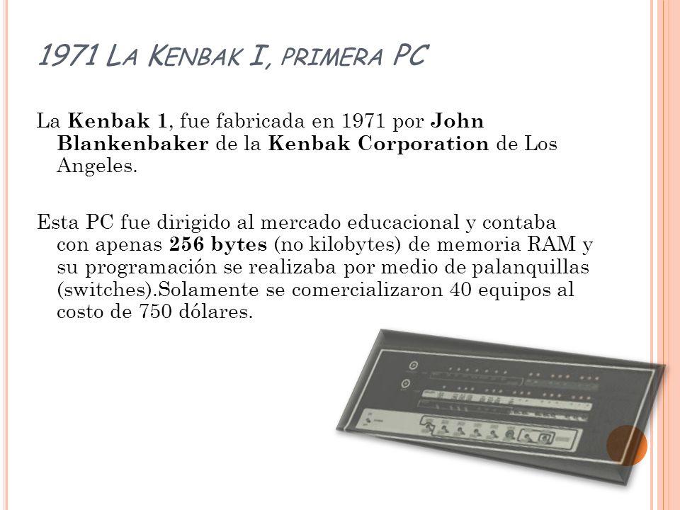 1971 La Kenbak I, primera PC