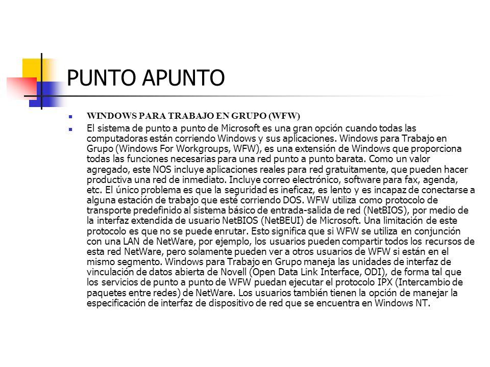 PUNTO APUNTO WINDOWS PARA TRABAJO EN GRUPO (WFW)