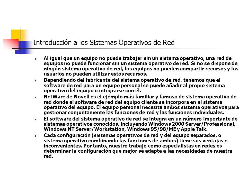 Introducción a los Sistemas Operativos de Red