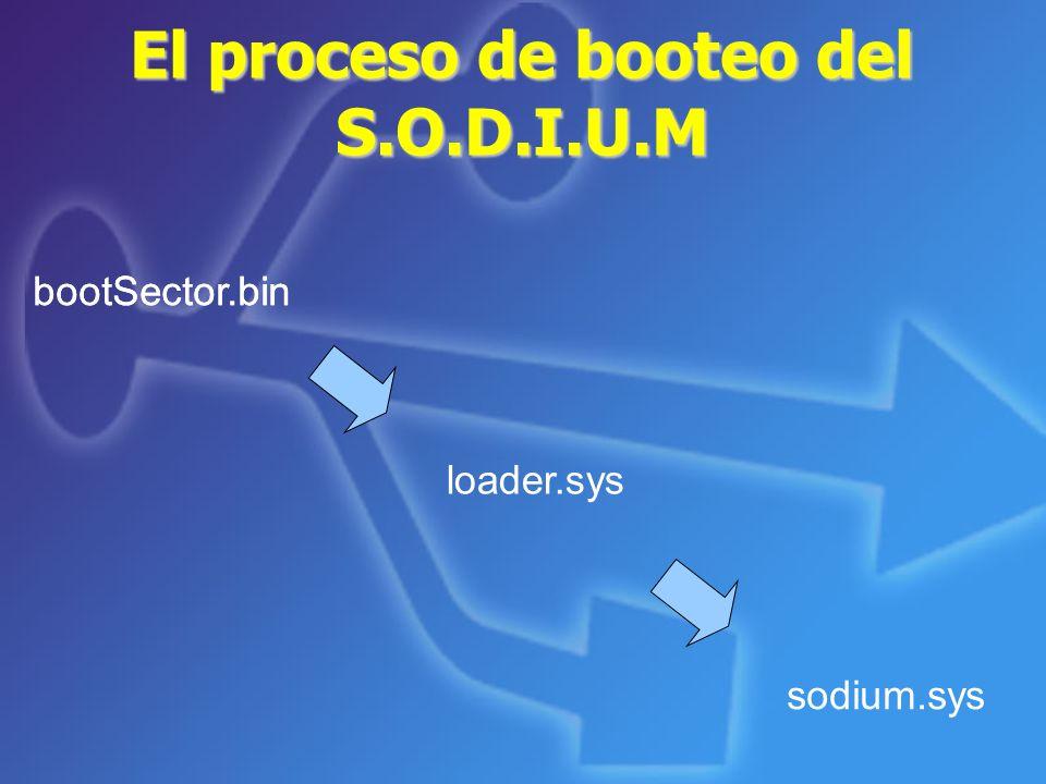 El proceso de booteo del S.O.D.I.U.M