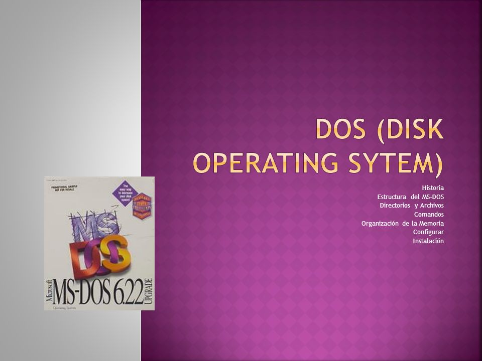 DOS (Disk Operating Sytem)