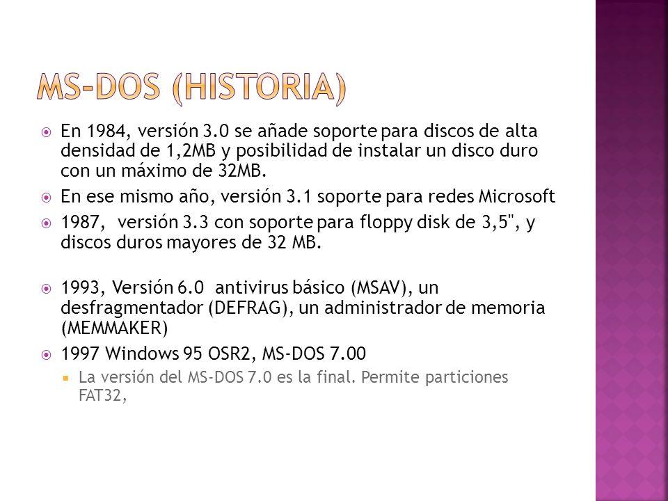 MS-DOS (Historia)