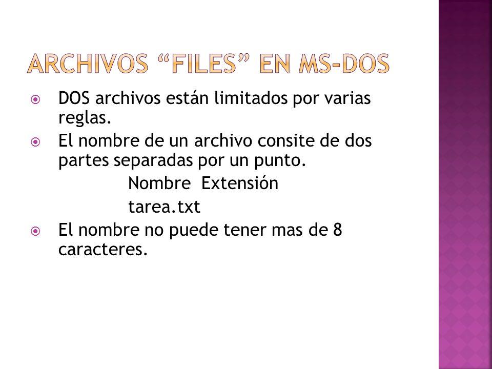 Archivos Files en MS-DOS