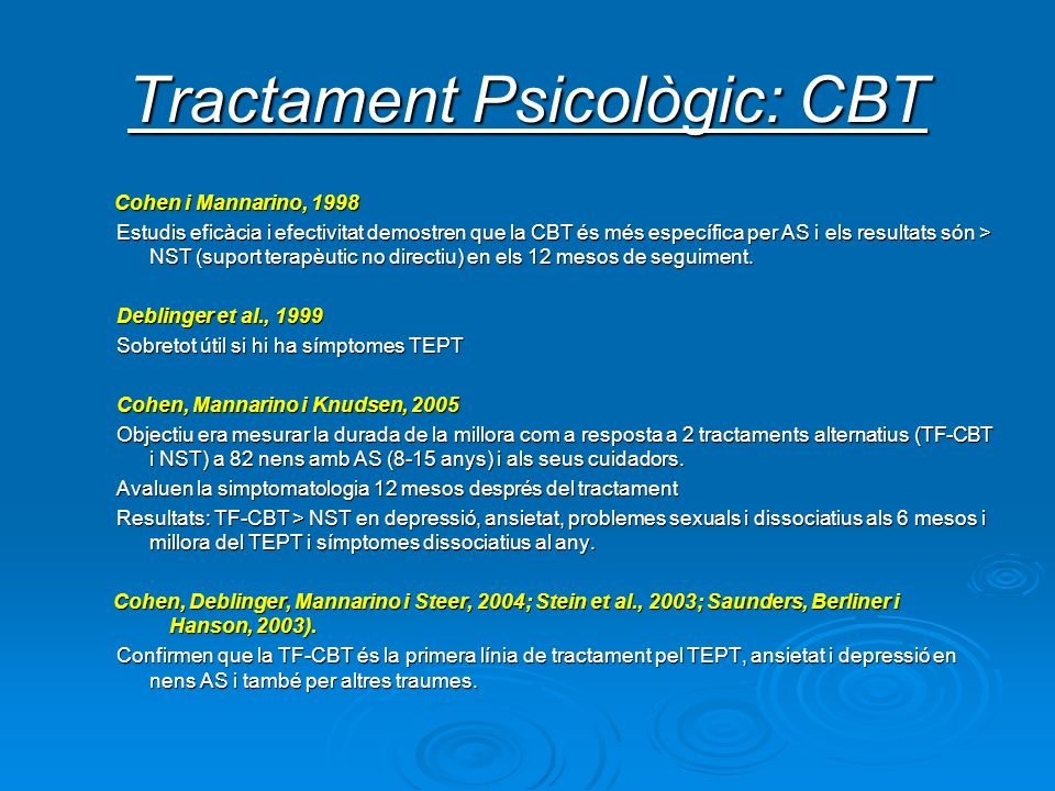 Tractament Psicològic: CBT