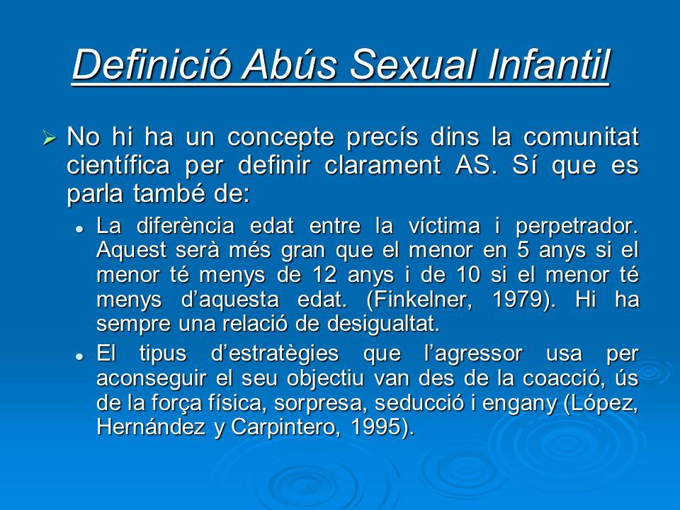 Definició Abús Sexual Infantil